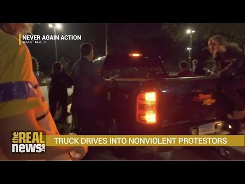 Truck Rams Anti-ICE Protest in Rhode Island