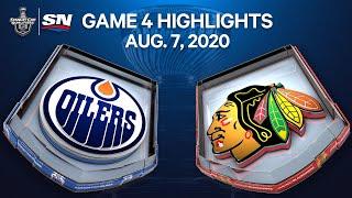 NHL Highlights   Oilers vs. Blackhawks, Game 4 - Aug. 7, 2020