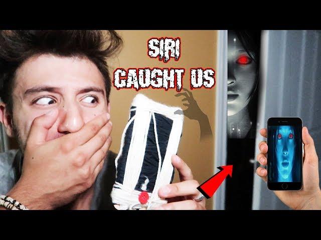 (SIRI FOLLOWED US!) DONT USE A SIRI DOLL AT 3 AM | THIS IS WHY (WE SAW SIRI IN REAL LIFE)