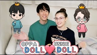 [ES SUB] Korean Boyfriend & Italian Girlfriend OPPA DOLL Challenge|국제커플 오빠돌 언니돌 챌린지