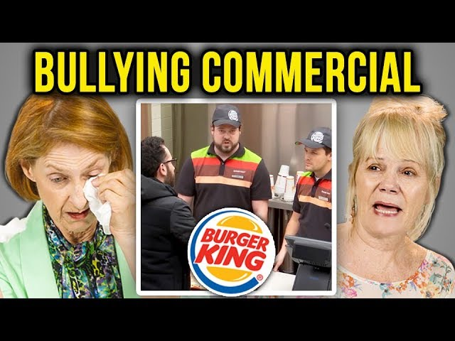 Elders React To Bullying Burger King Bullying Jr