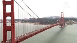 安装跳桥防护网 金门桥夜间减车道(金门大桥)