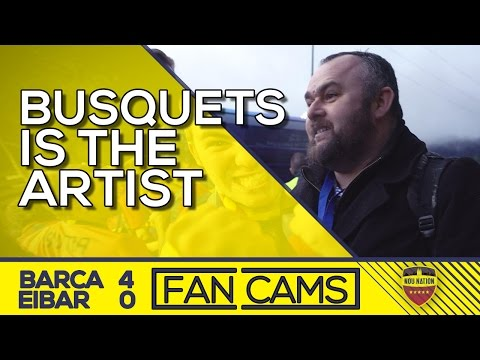 """Busquets Is The Artist"" | SD Eibar 0-4 FC Barcelona | FAN CAMS"
