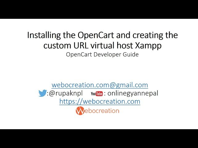 Opencart Version 3.0.2.0 Installation and setup locally Virtual host - Opencart development