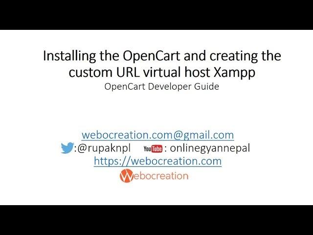 Opencart Version 3.0.2.0 Installation and setup locally Virtual host - Opencart development