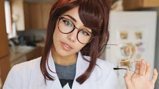 ASMR - Home Eye Doctor Exam    Glasses fitting (upclose ligh...