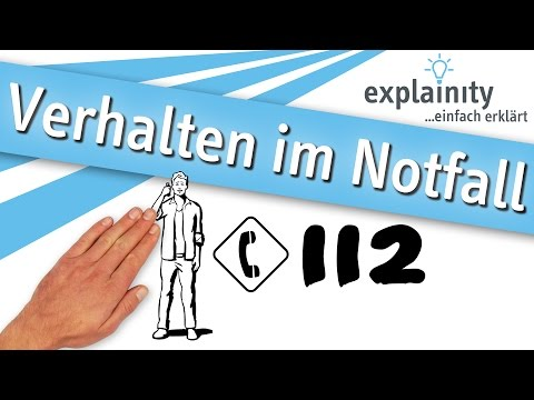 Verhalten im Notfall einfach erklärt (explainity® Erklärvideo)