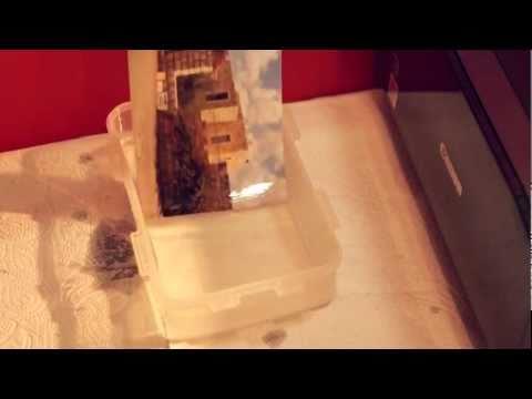 Inkjet print + water, what happens?