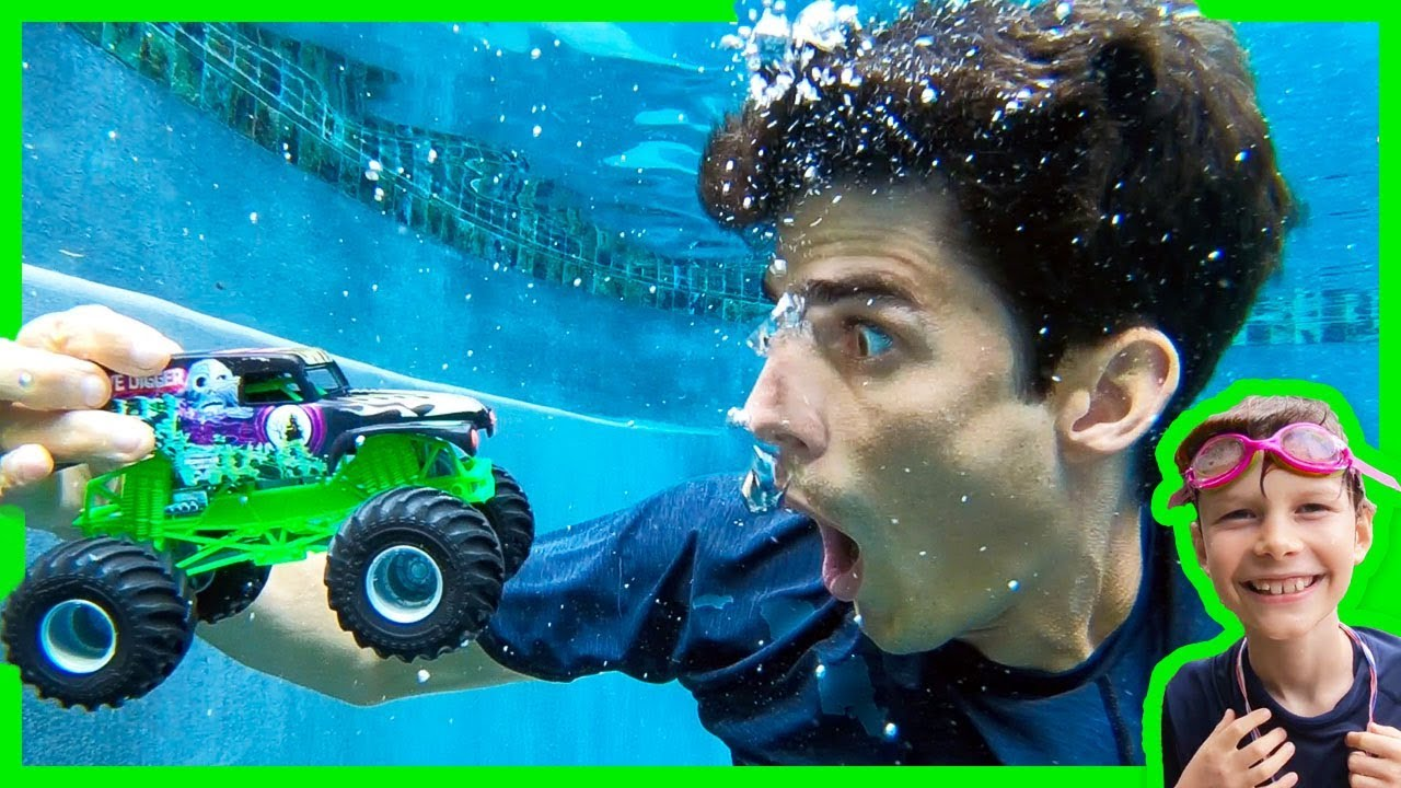 Axel Show Monster Trucks Ramping At The Pool Youtube