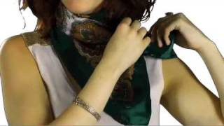 How to Tie a Square Scarf Video