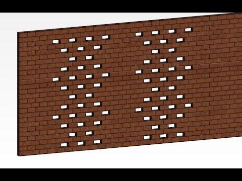 Revit 2019: Muro Perforado de ladrillo visto