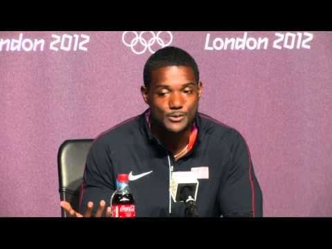 Men's 100m final: USA's Justin Gatlin talks after winning bronze at London 2012