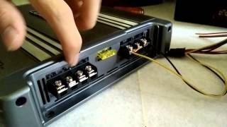How to hook a car amplifier to your house !