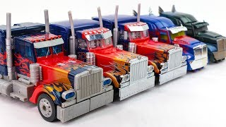 Transformers Movie 1 2 3 4 5 Leader Class Optimus Prime 5 Truck Vehicle Car Robots Toys