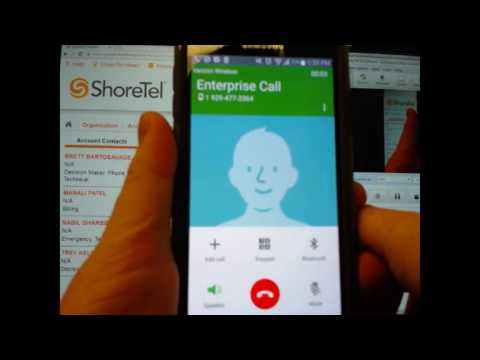 Installing and Provisioning the Shoretel Mobility Client App