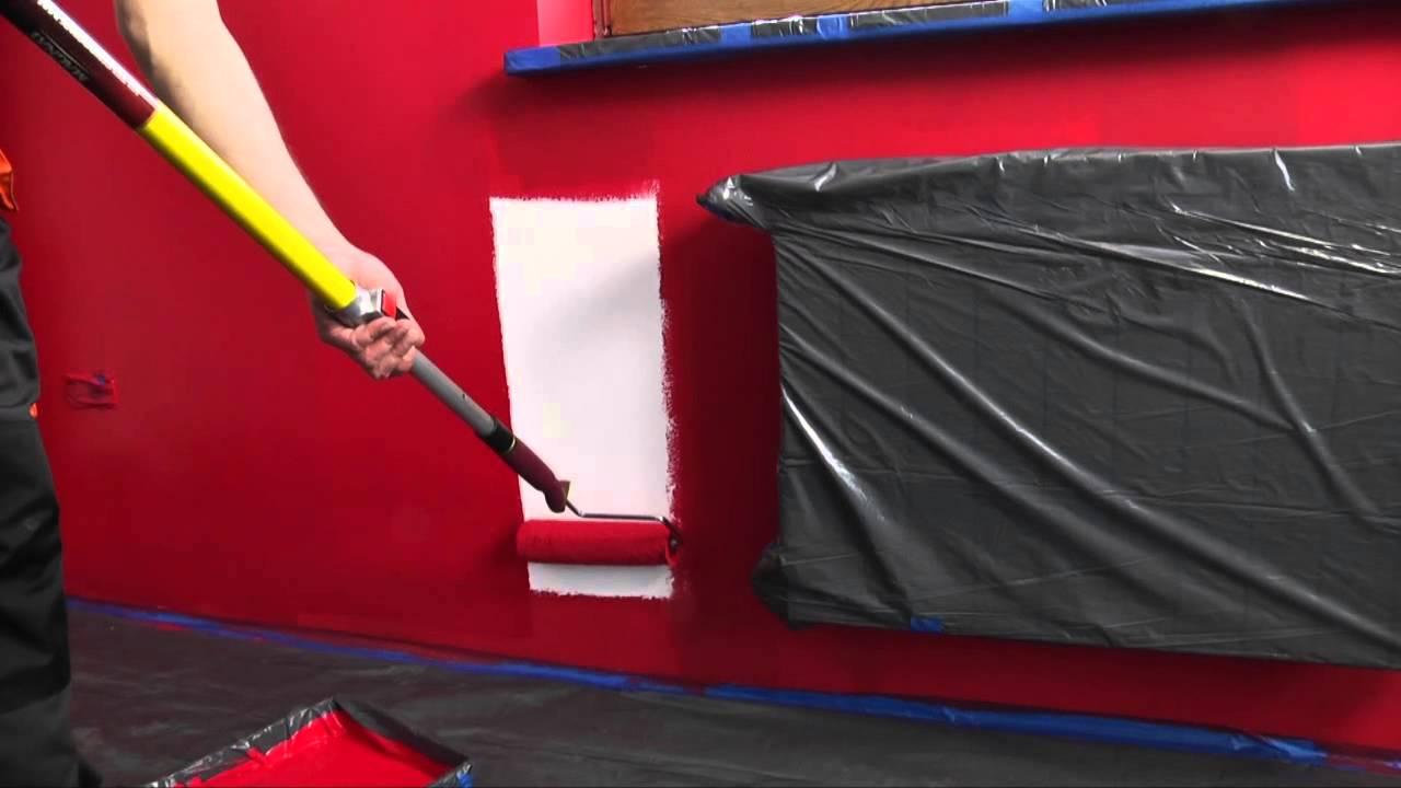 Malowanie ścian Farbą Lateksową Film Instruktażowy śnieżka Barwy