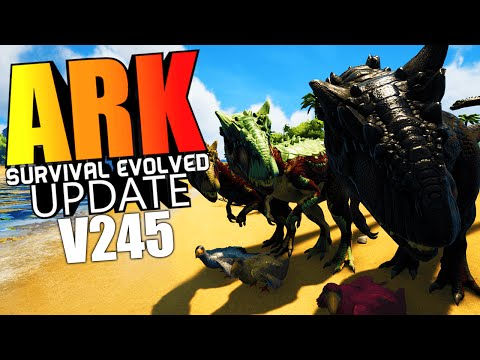 ARK Survival Evolved - ALLOSAURUS, PELAGORNIS, FISHING, PACK ALPHA & MORE Update v245 (ARK Gameplay)