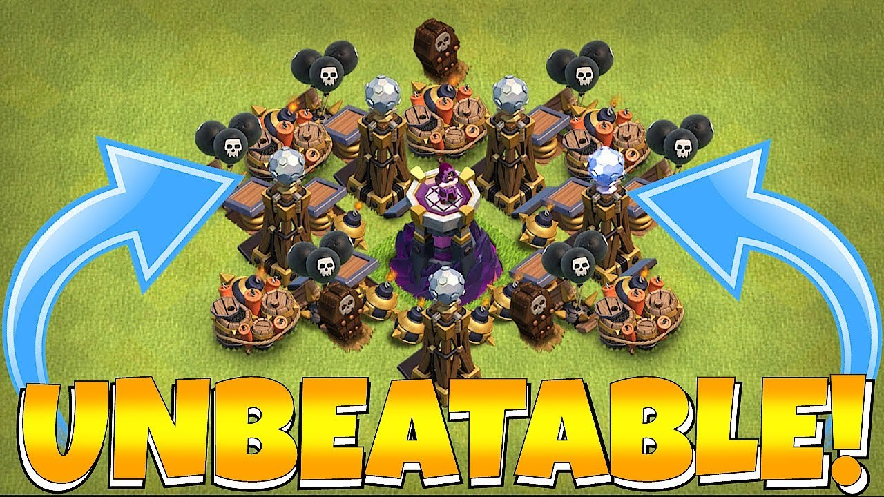 """UPGRADED MAX WIZ TOWER!! """"Clash Of Clans"""" TROLL BASE!!"""