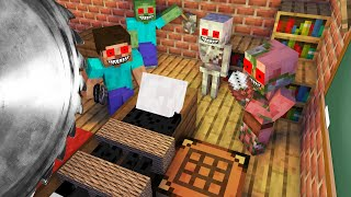 Monster School : BREWING ROBBERY CHALLENGE - Minecraft Animation