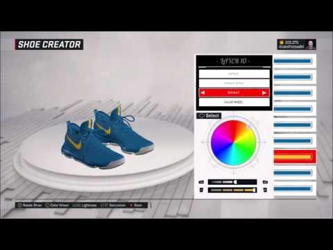 NBA 2K17 BRASIL   SHOES KD9 BLUE AND YELLOW