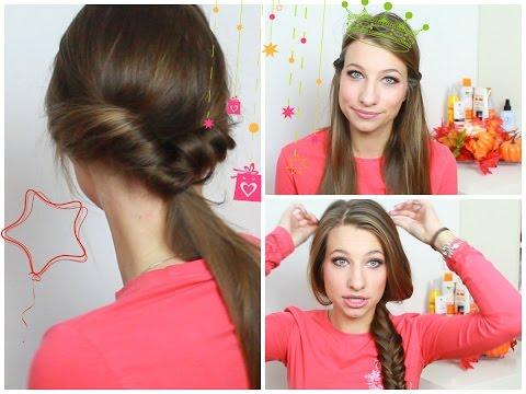 3 СУПЕР-БЫСТРЫХ ПРИЧЕСКИ или 3 способа быстро убрать волосы♥ KateLi0n