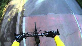 Lynch Hill 71km/h descent comuting to work, Giant Fastroad Comax 2015 - Flatbar Road Bike