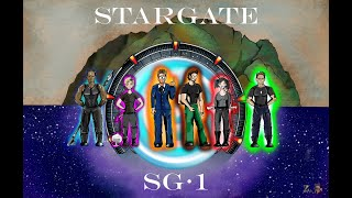 Stargate SG1 Artprint Drawing, Inking, and Coloring