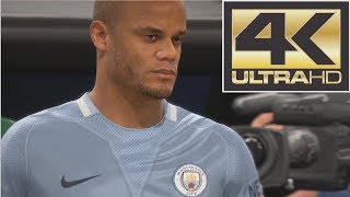 FIFA 18 4K Gameplay Manchester United vs Manchester City (Xbox One, PS4, PC)
