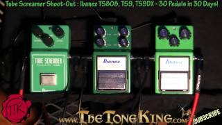 Ibanez Tube Screamer Shoot-Out : TS808, TS9, TS9DX 30 Pedals in 30 Days #13 Winter NAMM 2011