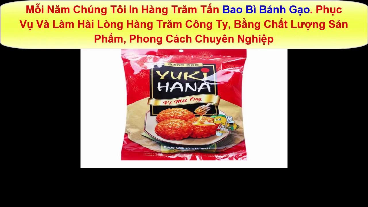 [In Bao Bì] In Bao Bì Túi Nilon Đựng Bánh Gạo Giá Rẻ_In NetViet
