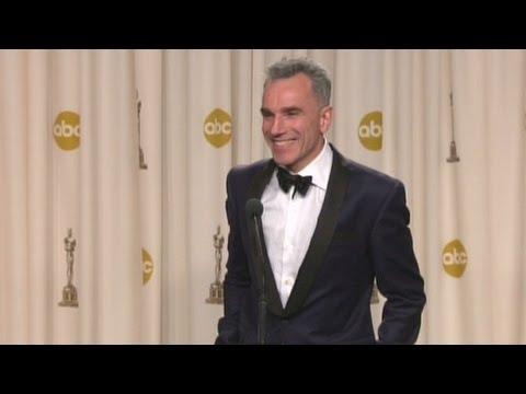 Raw: Daniel Day-Lewis talks about winning 3rd Oscar