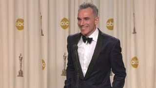 Raw: Daniel Day-Lewis talks about winning 3rd Oscar