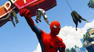 SPIDERMAN SAVES THE CITY! | GTA 5 Mods