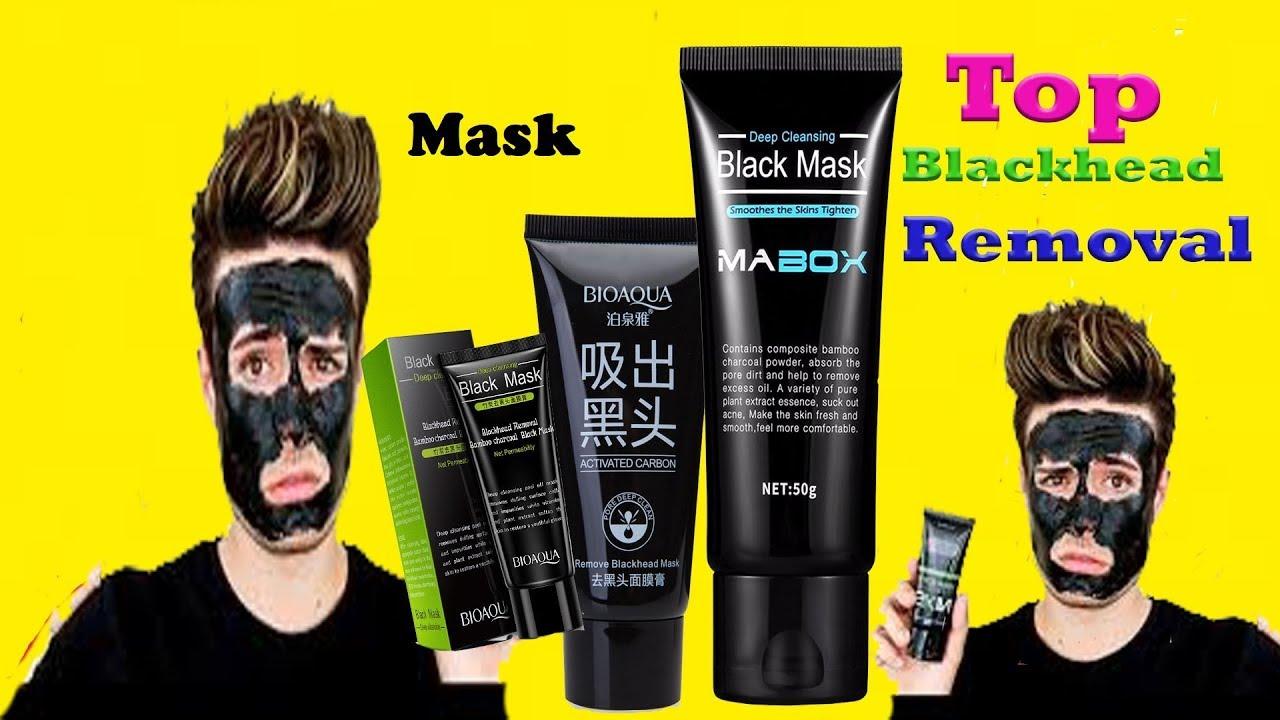 Top 5 Activated Charcoal Blackheads Face Masks For Acne Blackhead Bioaqua Carbon Black Mask Remover Peel Off Men
