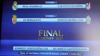Champions League semi-final draw: Real Madrid meet Atlético again – video