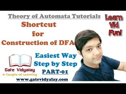 Shortcut for the construction of DFA in Automata Explained Step by Step Part-1
