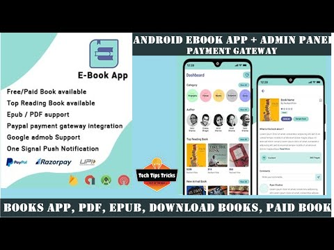 Android E-Book App - Payment Gateway , Admin Panel - 2020 Tech Tips Tricks