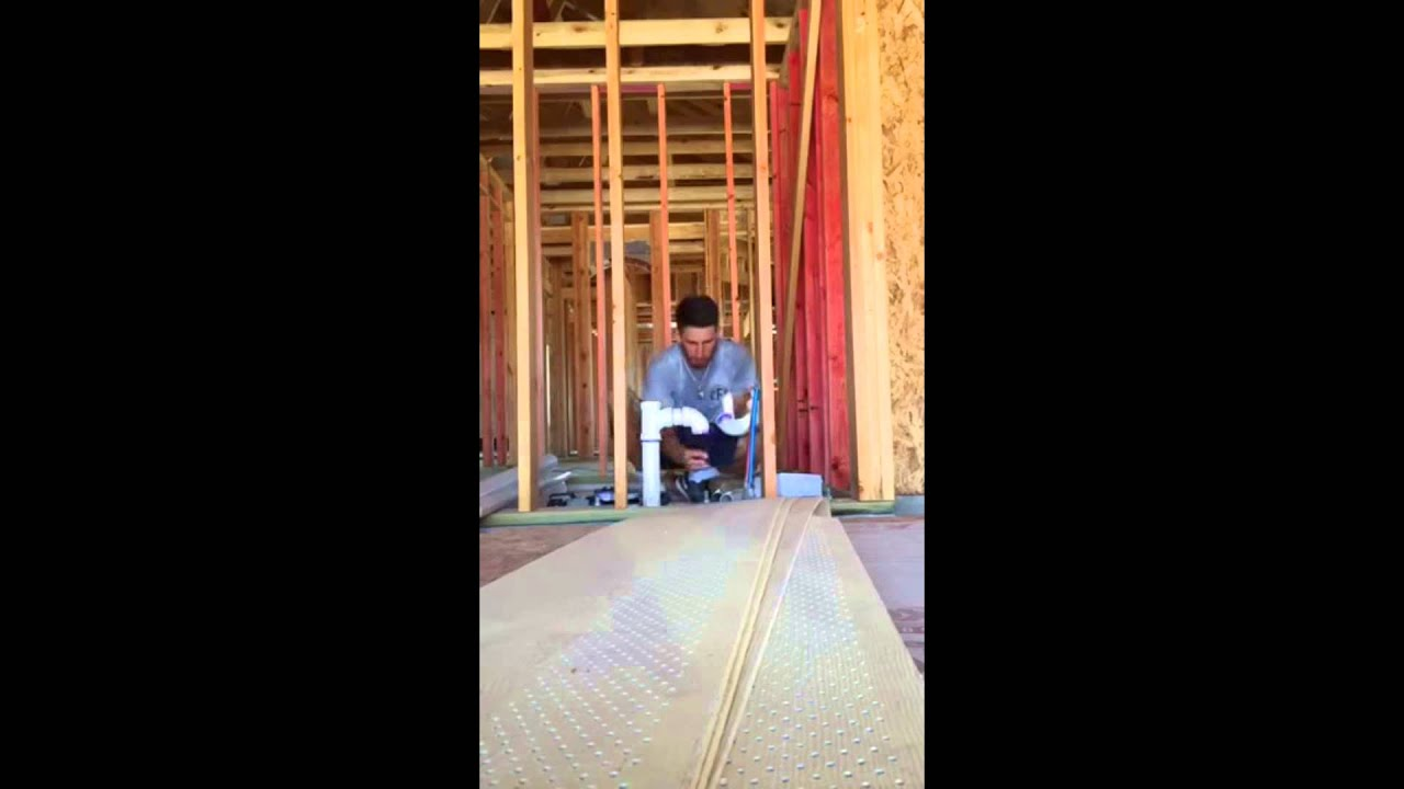 Plumbing in Washer Drain & Vent System - YouTube