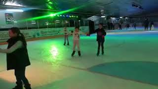 Ice skating fell