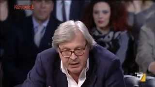Sgarbi show a Piazzapulita: 'L'Euro l'hanno voluto Ciampi e Prodi, vaffanc**o!'