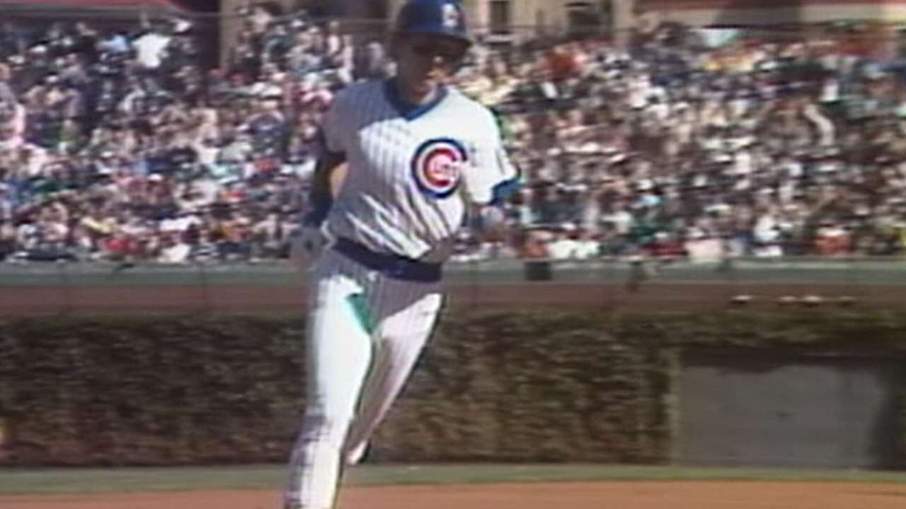 buy online 877de 94cf6 1984 NLCS Gm1: Dernier hits leadoff homer for Cubs