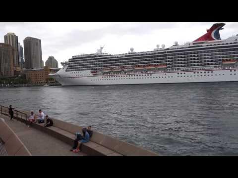 Sydney un paquebot quitte le port mars 2017
