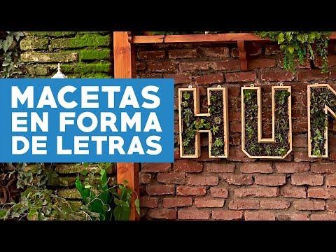 ¿Cómo hacer macetas verticales para el jardín con forma de letras?