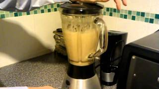 Making a Crunchie milkshake
