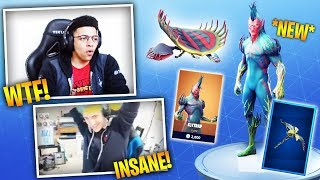MYTH & NINJA REACTS TO NEW SKIN *FLYTRAP* - Fortnite Battle Royale WTF & Funny Episode. 159