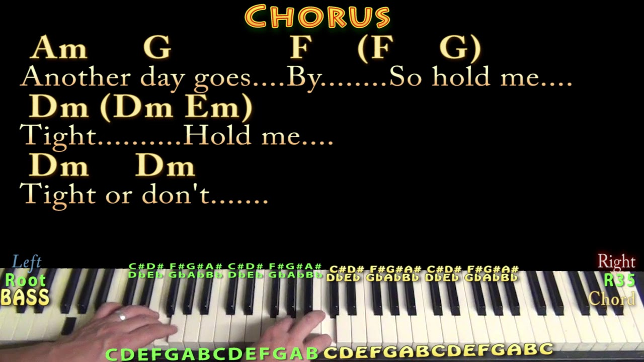 Hold Me Tight Or Don T Fall Out Boy Piano Cover Lesson In Am