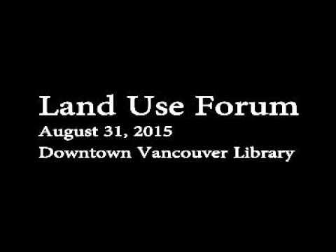 Land Use Forum, August 31, 2015, Vancouver, Washington