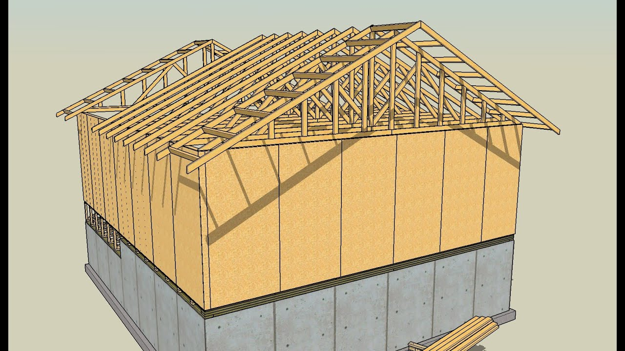 How to draw a gambrel roof in sketchup - Drawing Lumber With Sketchup Series Part 8 How To Draw Roof Trusses