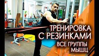 15 Упражнений с резинами на все группы мышц. Фитнес дома