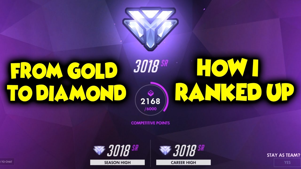 How I went from a GOLD rank to DIAMOND rank in Overwatch